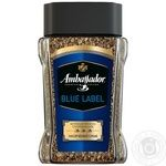 Natural instant sublimated coffee Ambassador Blue Label 190g Russia