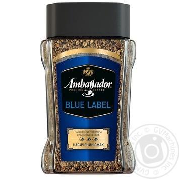 Кофе Амбассадор Блу Лейбл натуральный растворимый сублимированный 190г Россия