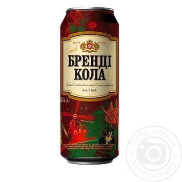 Напій Оболонь Бренді Кола слабоалкогольний сильногазований 0,5л ж/б