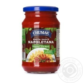 Соус Чумак Спагетти орегано и базилик 340г - купить, цены на Восторг - фото 1