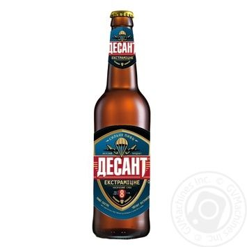 Пиво Десант Экстракрепкое светлое 0,5л стекло