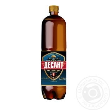 Пиво Десант Экстракрепкое светлое 1,25л