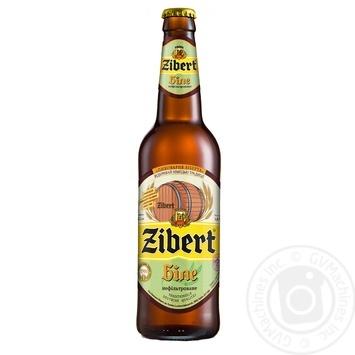Пиво Zibert Белое светлое нефильтрованное 0,5л стекло