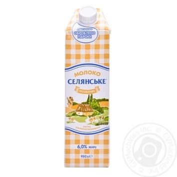 Молоко Селянське Особое 6% 950г