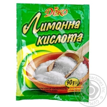 Лимонна кислота Деко 90г - купити, ціни на МегаМаркет - фото 5