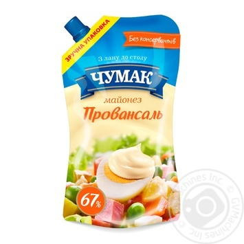 Chumak Provansal Mayonnaise 67% 350g - buy, prices for MegaMarket - image 1
