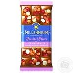 Шоколад молочный Millennium Fruits&Nuts с миндалем, цельными лесными орехами, клюквой и изюмом 80г - купить, цены на Novus - фото 1