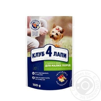 Club 4 Paws Premium canned pet food for adult dogs With chicken in jelly 100g - buy, prices for Novus - image 1