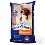 Корм сухий Club 4 Paws Преміум для дорослих собак середніх порід 14кг