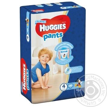 Подгузники-трусики Huggies для мальчиков 4 9-14кг 36шт