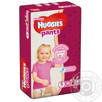 Подгузники-Трусики Huggies для девочек 5 12-17кг 34шт - купить, цены на Восторг - фото 1