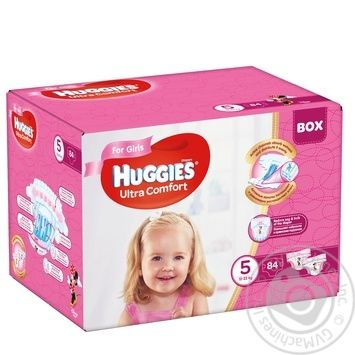 Diaper Huggies Ultra comfort for girls 12-22kg 84pcs - buy, prices for Novus - image 1