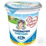 Сметана Славяночка 15% 340г Украина - купить, цены на Фуршет - фото 2