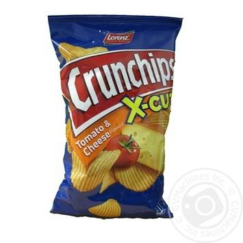 Чіпси картопляні зі смаком томатів та сиру Crunchips x-cut 75г
