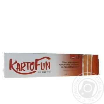 Чипсы KartoFun картоф пластин волнистые вкус бекон 50г