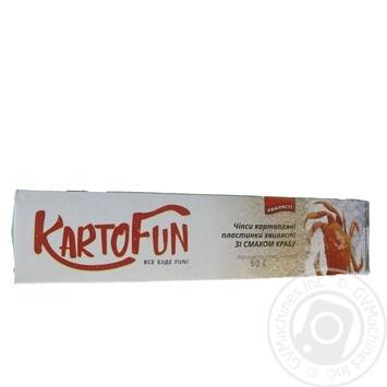 Чипсы KartoFun картоф пластин волнистые вкус краба 50г