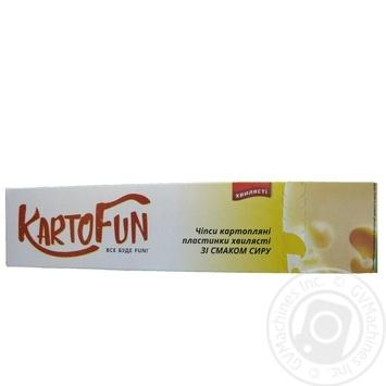 Чипсы KartoFun картоф пластин волнистые вкус сыра 50г