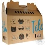 Коробка-переноска TelePet для кошек