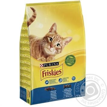 Корм сухой Friskies С лососем и овощами для взрослых кошек 10кг