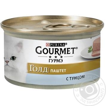 Корм GOURMET Gold Паштет З тунцем для дорослих котів 85г