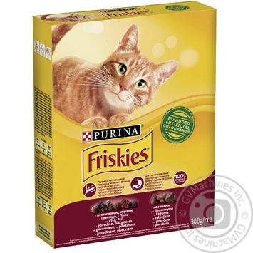 Корм сухой Friskies С говядиной, курицей и овощами для взрослых кошек 300г