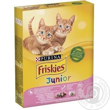 Корм сухий Friskies Junior З куркою, молоком та овочами для кошенят 300г - купити, ціни на Novus - фото 1