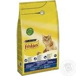 Friskies for cats with salmon and vegetables dry food 1500g