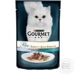Корм GOURMET Perle Duo З океанічною рибою та тунцем для дорослих котів 85г