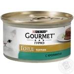Корм GOURMET Gold С кроликом в паштете для взрослых кошек 85г