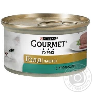 Корм GOURMET Gold Паштет С кроликом для взрослых кошек 85г - купить, цены на Novus - фото 1