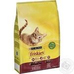 Корм сухой Friskies С говядиной, курицей и овощами для взрослых кошек 1,5кг