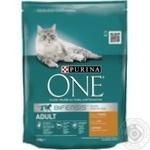 Корм сухой Purina ONE Adult С курицей и цельными злаками для взрослых котов 200г