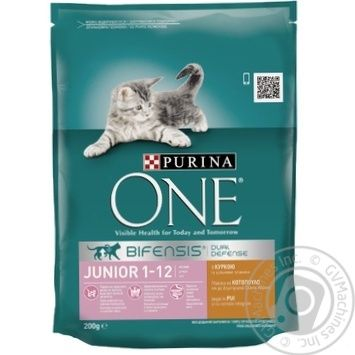 Корм сухой Purina ONE Junior С курицей и цельными злаками для котят 200г