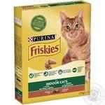 Корм сухой Friskies Indoor С курицей и садовой травой для взрослых котов 270г