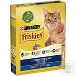 Корм сухой Friskies Sterilised С лососем и овощами для стерилизованных кошек и кастрированных котов 270г