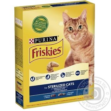 Корм сухий Friskies Sterilised З лососем та овочами для стерилізованих кішок та кастрованих котів 270г