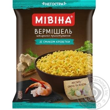 Вермишель Мивина неострая со вкусом креветки 59,2г