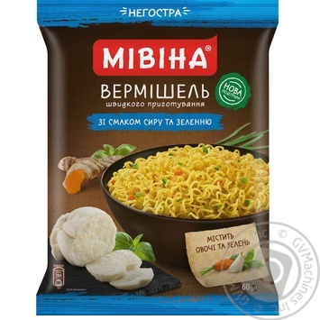 Mivina Instant Noodles With Cheese Flavour 60g - buy, prices for Novus - image 1