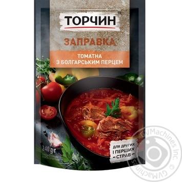 Заправка Торчин томатная с болгарским перцем для первых и вторых блюд 240г