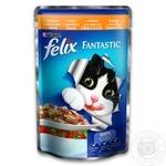 Корм Felix Fantastic С курицей и томатами в желе для взрослых котов 100г - купить, цены на Novus - фото 1