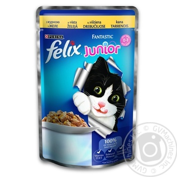 Felix Fantastic Junior Chicken Canned For Kittens Food 100g - buy, prices for Tavria V - image 1