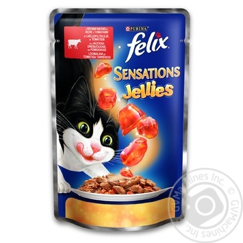 Felix in jelly with beef and tomatoes for cats food 100g - buy, prices for Tavria V - image 1