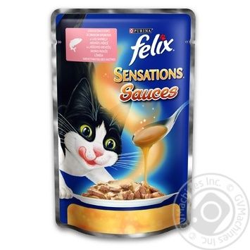 Felix Sensations Sauces Adult cat food salmon in shrimp sauce 100g