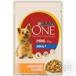 Purina One Adult for dogs with chicken, carrot, green beans in sauce food 100g