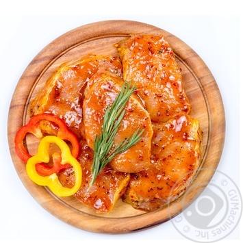 Стейк свиной из корейки без кости в маринаде - купить, цены на Novus - фото 1