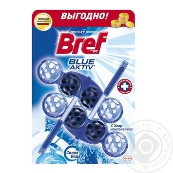 Блок для унитаза Bref Цветная вода Хлор-компонент 100г - купить, цены на Метро - фото 1