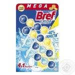 Bref  blocks for the toilet Power Active Lemon and Ocean Freshness 4pcs