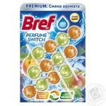 Туалетні блоки для унітазу Bref Зміна аромату Персик-Яблуко Тріопак 150г