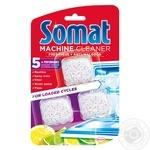 Средство д/ухода за посудомоечными машинами Somat 3*20г/уп