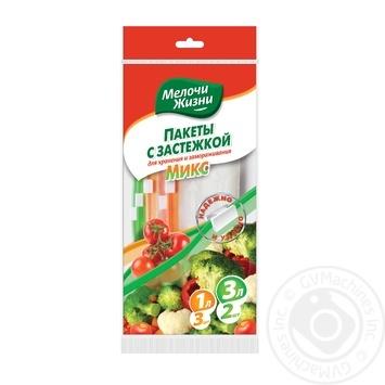 Пакеты для заморозки Мелочи Жизни Микс 1л 3шт, 3л 2шт - купить, цены на УльтраМаркет - фото 2